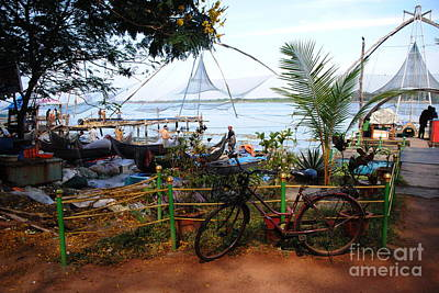 Photograph - Fishing Village In Kochi  by Jacqueline M Lewis