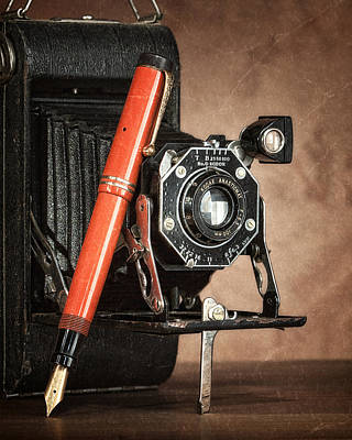 Bellows Photograph - Kodak And Parker Still Life by Tom Mc Nemar