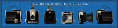 Kodak Brownie Hawkeye Camera Art Print by Thomas Woolworth
