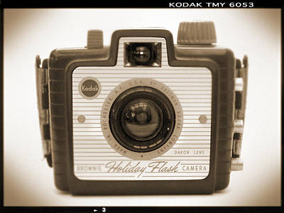 Vintage Camera Wall Art - Photograph - Kodak Brownie Holiday Flash by Mike McGlothlen