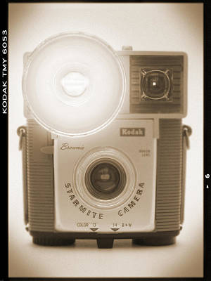 Vintage Camera Wall Art - Photograph - Kodak Brownie Starmite Camera by Mike McGlothlen