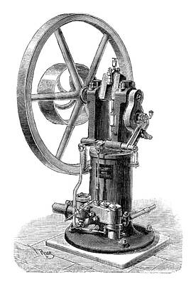 1870s Photograph - Koerting-lieckfield Engine by Science Photo Library