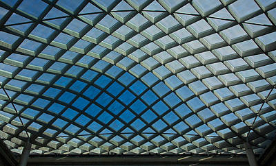 Photograph - Kogod Courtyard Ceiling #2 by Stuart Litoff