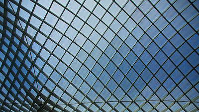 Photograph - Kogod Courtyard Ceiling #4 by Stuart Litoff
