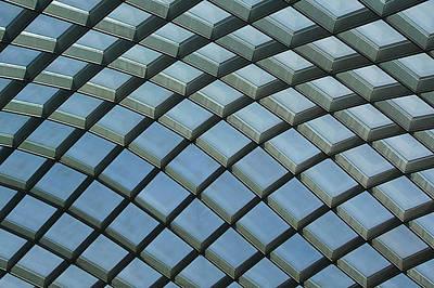 Photograph - Kogod Courtyard Ceiling #5 by Stuart Litoff