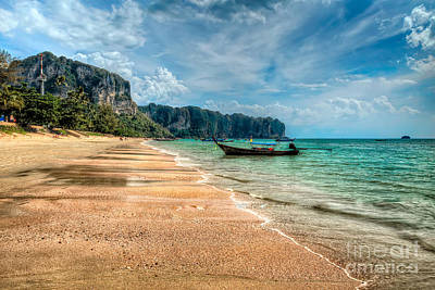 Remote Digital Art - Koh Lanta Beach by Adrian Evans