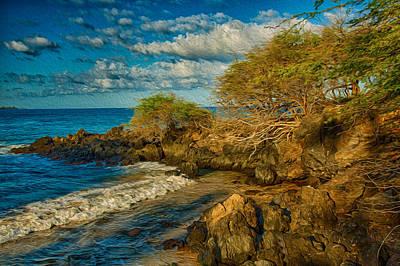 Painting - Kohala Coast Inlet by Omaste Witkowski