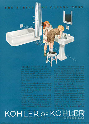 Kohler 1923 1920s Usa Cc Bathrooms Art Print by The Advertising Archives