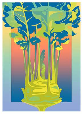 Kohlrabi Gradient Art Print