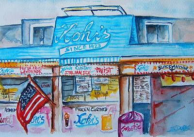 Kohrs Frozen Custard Art Print