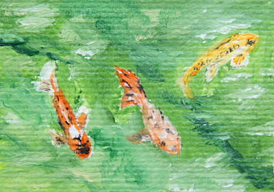 Painting - Koi by Alan Mager