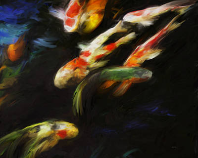 Painting - Koi by Ann Powell
