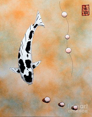 Koi Bekko Broken Necklace Painting Original