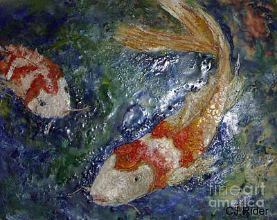 Painting - KOI by CJ  Rider