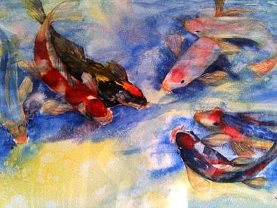 Painting - Koi by Courtney Wilding