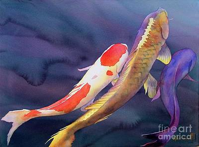 Fish Painting - Koi Dance by Robert Hooper
