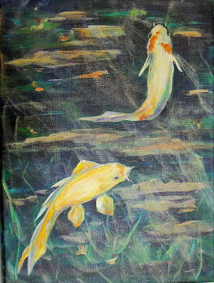 Painting - Koi Dancers by Maureen Pisano