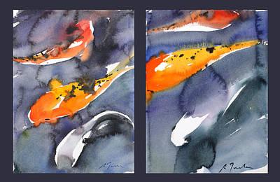 Millbury Painting - Koi Diptych by Sumiyo Toribe