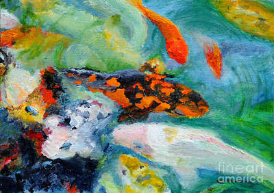 Frenzy Painting - Koi Fish by Cindy Roesinger