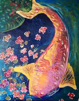 Painting - Koi Fish by Michaela Kraemer