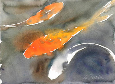 Painting - Koi Fish No.1 by Sumiyo Toribe