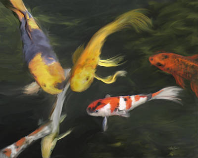 Painting - Koi Four by Ann Powell