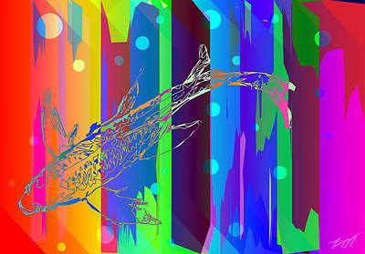 Koi Digital Art - Koi by Jeffrey Scott Spragg