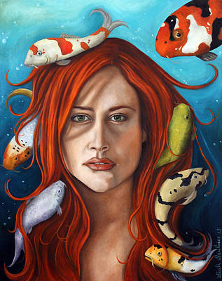 Power Painting - Koi by Leah Saulnier The Painting Maniac