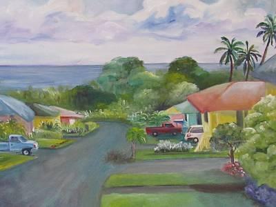 Koi Loop Hawaii Art Print by Maria Milazzo