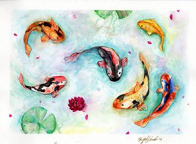 Painting - Koi by Miguel Karlo Dominado