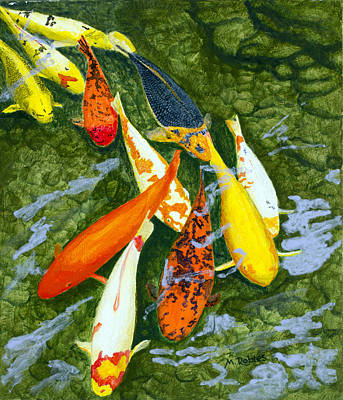 Painting - Koi Parade by Mike Robles