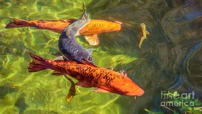 Photograph - Koi by Peggy Hughes