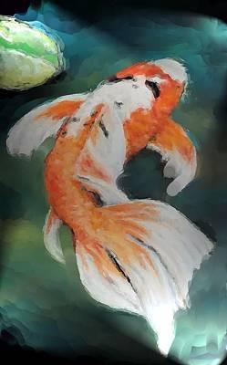 Koi Pond Art Print by Linda Brown