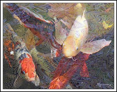 Koi Digital Art - Koi Pond by Mariarosa Rockefeller