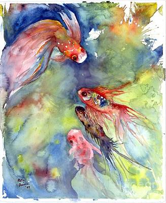 Painting - Koi Rendevous by Patsi Prince