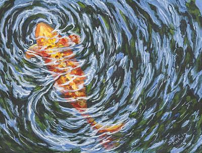 Painting - Koi Ripples by Darice Machel McGuire