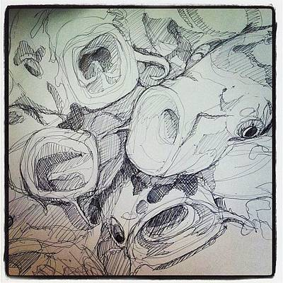 Koi Fish Photograph - Koi Sketch For Reference #fish #koi by Noelle Dumas