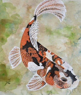 Painting - Koi by Suzette Kallen