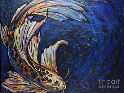 Painting - Koi Swirl by Rebecca Weeks Howard