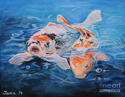 Painting - Koi Tale by Jana Goode