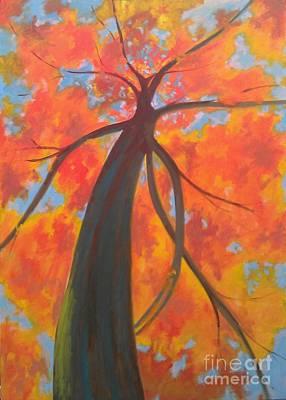 Koi Tree Art Print by Piotr Wolodkowicz