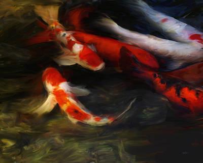 Koi Digital Art - Koi Two by Ann Powell
