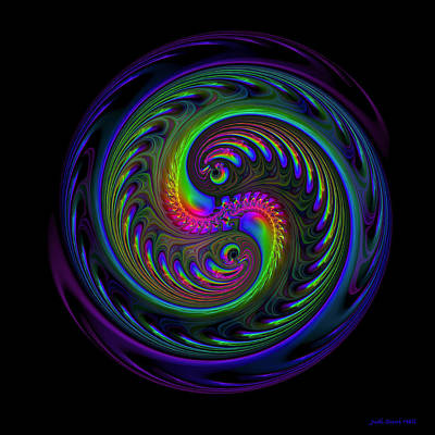Digital Art - Koi Yin Yang by Judi Suni Hall