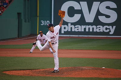 Koji Uehara Of The Red Sox Original by Alan Holbrook