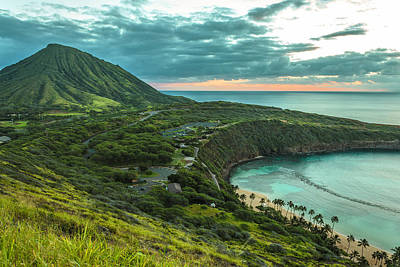 Photograph - Koko Head Crater And Hanauma Bay 1 by Leigh Anne Meeks