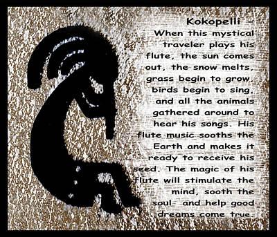 Anasazi Digital Art - Kokopelli by Barbara Snyder