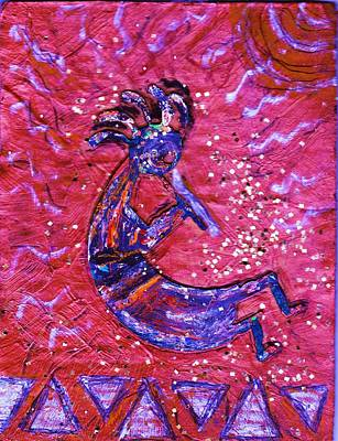 Kokopelli Dance Art Print by Anne-Elizabeth Whiteway