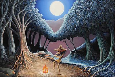 Tree Roots Painting - Kokopelli by Hamish Baird