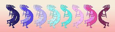 Symbol Of Fertility Digital Art - Kokopelli Looking For The Different Drummer by Robert J Sadler