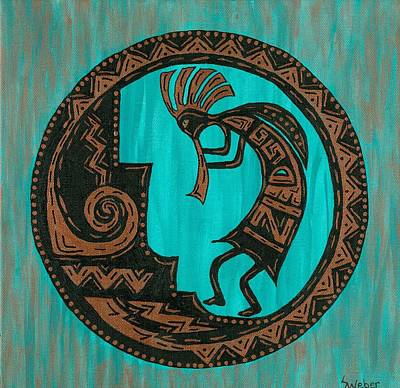 Kokopelli Art Print by Susie WEBER